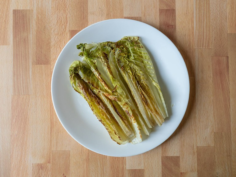 How to make grilled romaine in an air fryer