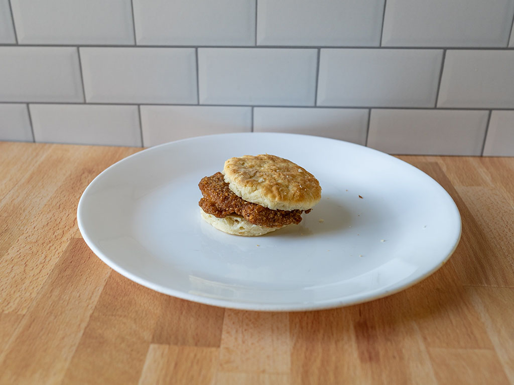 Jimmy Dean Southern Style Chicken Biscuit Sandwiches cooked
