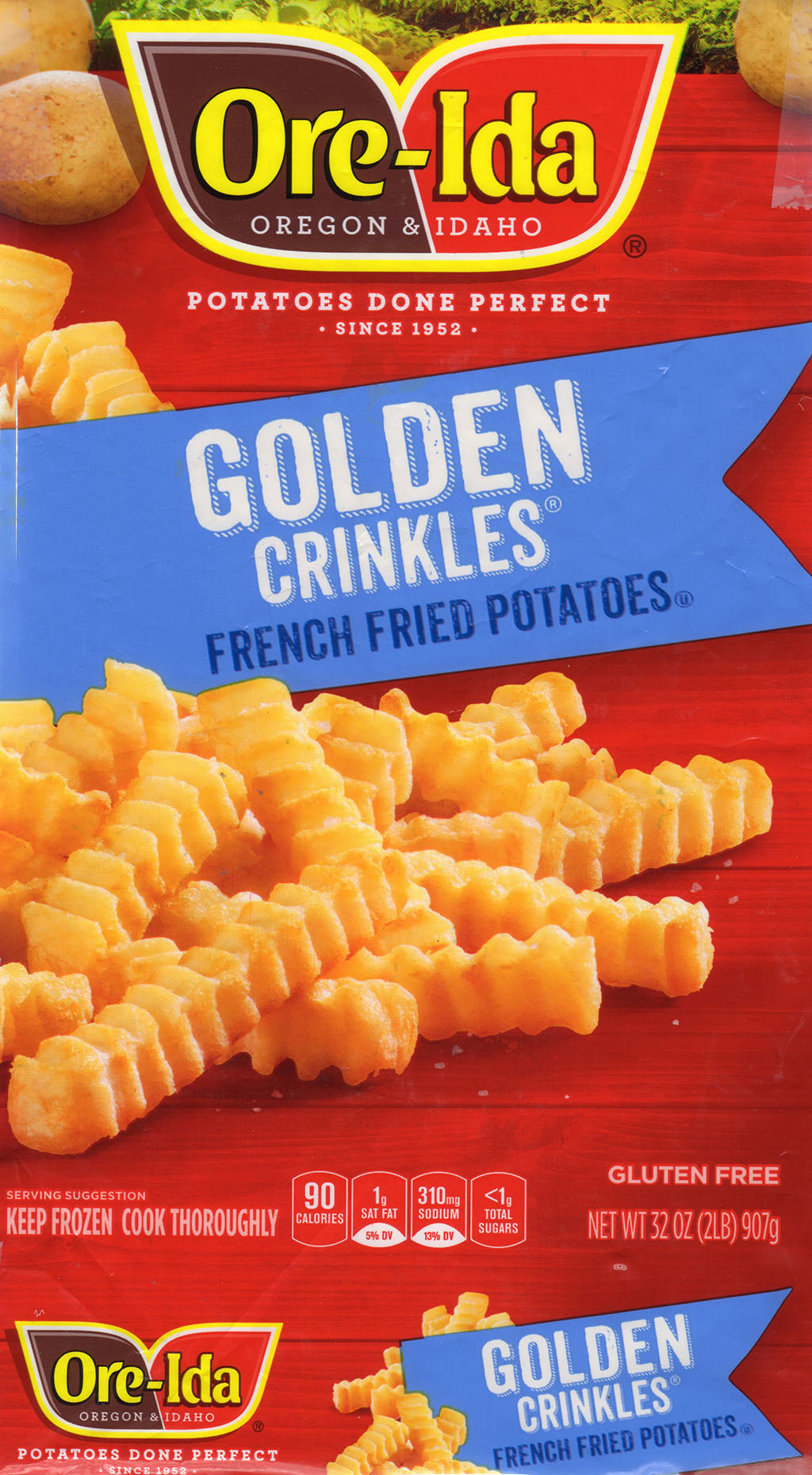 Ore-Ida Golden Crinkles French Fried Potatoes package front