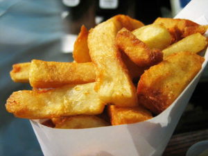 Airfryer fresh cut fries