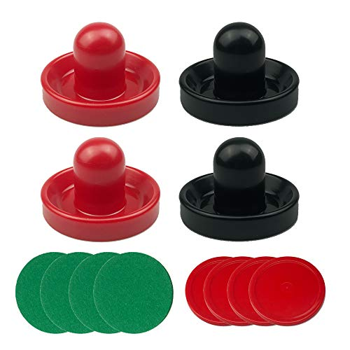 Set of Two Large 3 3//4 Air Hockey Paddles and 3 1//4 Pucks for Full Size Air Hockey Tables by Brybelly