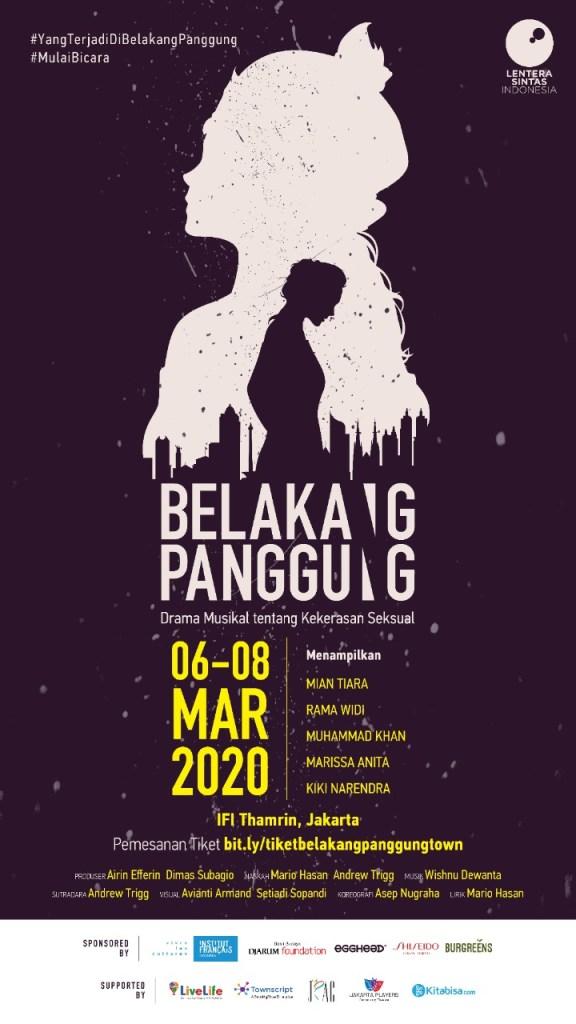 belakang panggung the musical poster march 2020
