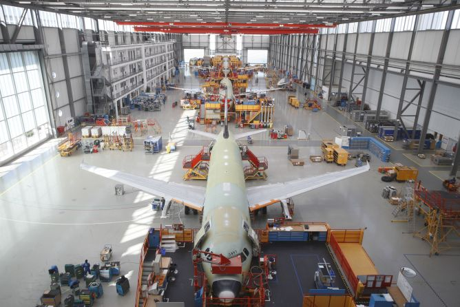 Airbus A320-production in Hamburg