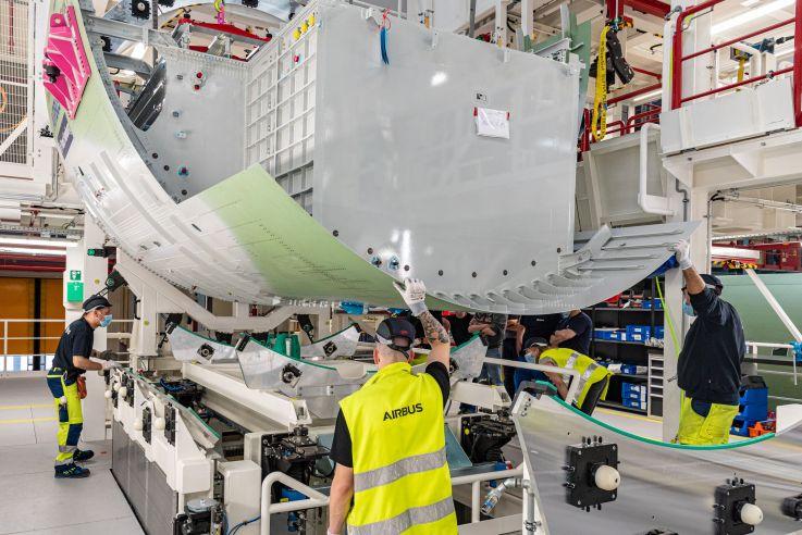 Airbus A321XLR rear center tank
