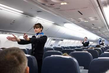 Flight Attendants at work