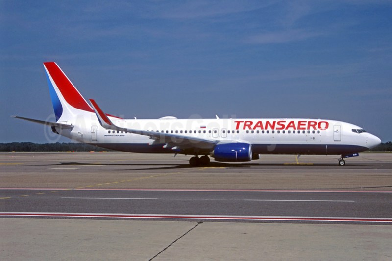 Transaero Airlines Boeing 737-8MC WL N1782B (EI-RUR) (msn 44435) BFI (Steve Bailey). Image: 927134.