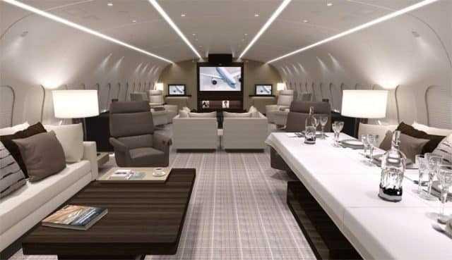 Boeing 787 8 Business Jet La Interior Foto