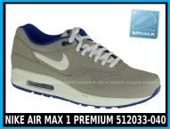 NIKE AIR MAX 1 PREMIUM 512033-040 w kolorze CLASSIC STONE SL – HYPR BLUE – ANTHRACIT - cena 399,99 zł - buty męskie.