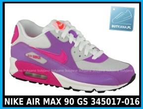 NIKE AIR MAX 90 GS 345017-016 damskie air maxy cena 339,99 zł - różowe 1