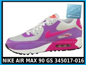 NIKE AIR MAX 90 GS 345017-016 damskie air maxy cena 339,99 zł - różowe 2