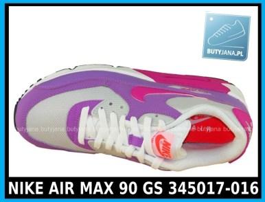 NIKE AIR MAX 90 GS 345017-016 damskie air maxy cena 339,99 zł - różowe 3
