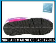 NIKE AIR MAX 90 GS 345017-016 damskie air maxy cena 339,99 zł - różowe 4