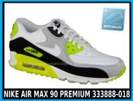 NIKE AIR MAX 90 PREMIUM 333888-018 w kolorze WHITE - GREY - YELLOW (szare, białe, żółte) w cenie 389-99 zł.