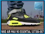 Buty Nike Air Max 90 Essential 537384-007 czarno żółte neon 3