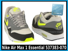 Nike Air Max 1 Essential 537383-070 Dusty Grey Volt Cool Grey Blk - cena 400 zł - airmaxsklep 4