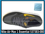 Nike Air Max 1 Essential 537383-080 DARK GREY LASER ORANGE – ANTHRACIT – BLK - cena 400 zł 3