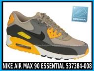 Nike Air Max 90 Essential 537384-008 Pale Grey Black Anthracit Laser Orange - cena 400 zł - airmaxsklep 1