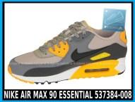 Nike Air Max 90 Essential 537384-008 Pale Grey Black Anthracit Laser Orange - cena 400 zł - airmaxsklep 2