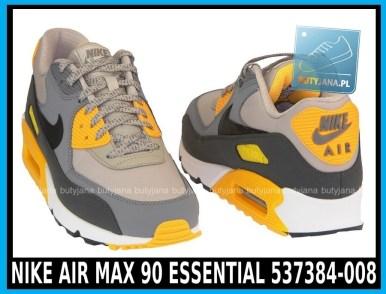 Nike Air Max 90 Essential 537384-008 Pale Grey Black Anthracit Laser Orange - cena 400 zł - airmaxsklep 5