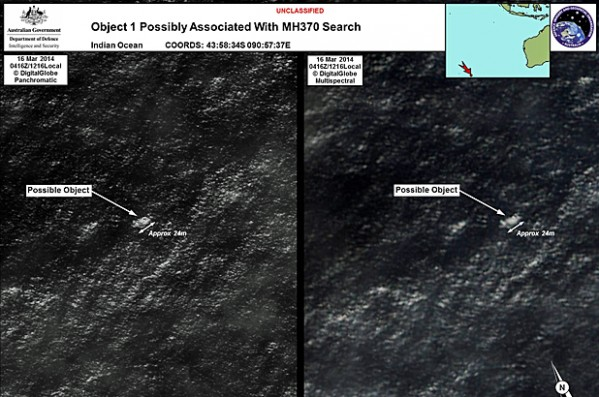 Possible Debris from MH370 Near Australia
