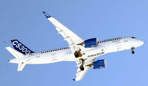bombardier cs300 first flight
