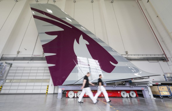 Qatar Airways Painted Tail for First A380