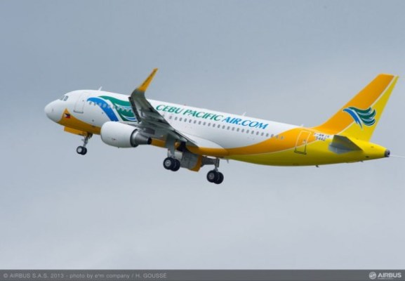 Cebu Pacific Airbus A320 with Sharklets