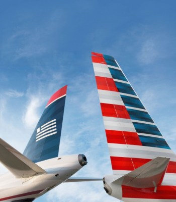 American Airlines and US Airways Tails