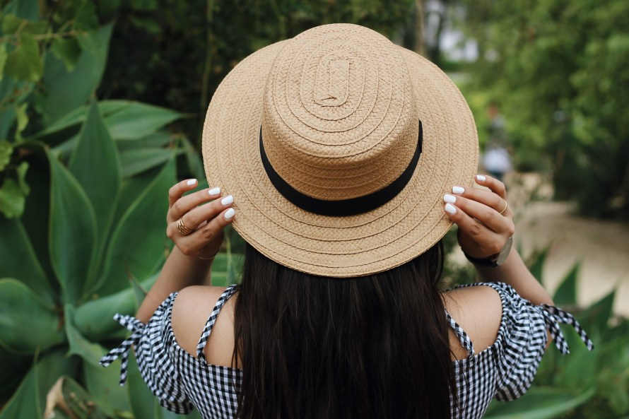Straw boater hat from Nordstrom