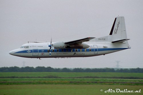 PH-FGE Fokker F-27 Mk 200 Friendship (Lelystad, 1993)