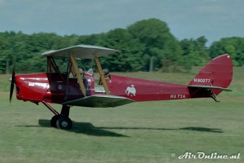 N90277 De Havilland DH82a Tiger Moth, Schaffen/Diest, aug. 1989