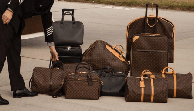 Luggage on private jet