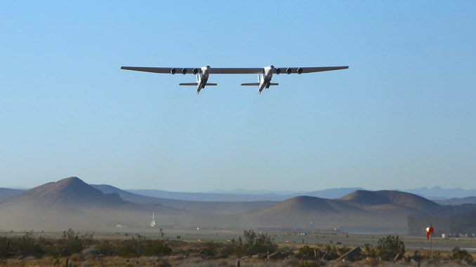 the gigantic stratolaunch aircraft just flew for the second time Airplane GEEK The Gigantic Stratolaunch Aircraft Just Flew For The Second Time