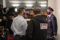 Local Seattle news media provided live coverage of the inaugural