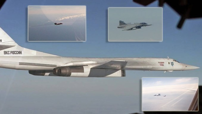 two russian tu 160s and four flankers intercepted by italian f 35s danish f 16s and swedish gripens over the baltic Airplane GEEK Two Russian Tu-160s And Four Flankers Intercepted By Italian F-35s, Danish F-16s and Swedish Gripens Over The Baltic
