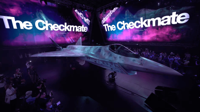 here are the most interesting details we have noticed in the official unveiling of russias checkmate fighter jet Airplane GEEK Here Are The Most Interesting Details We Have Noticed In The Official Unveiling Of Russia's 'Checkmate' Fighter Jet
