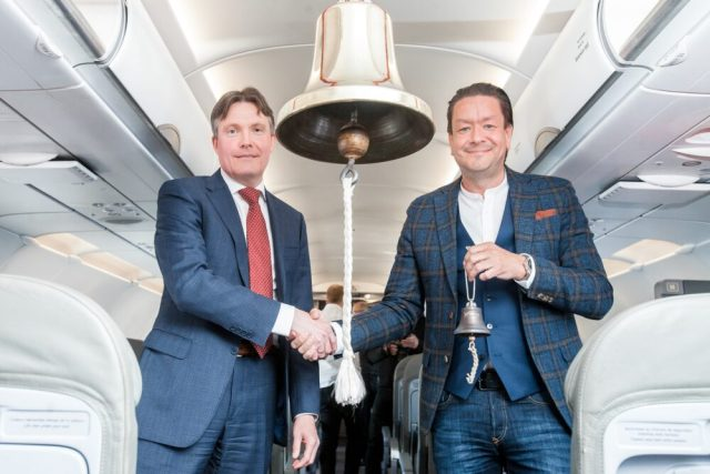 Left to adequate - Magnus Hardarson, BOSS Nasdaq Iceland and Mister. Birgir Jónsson, CEO behind PLAY ii