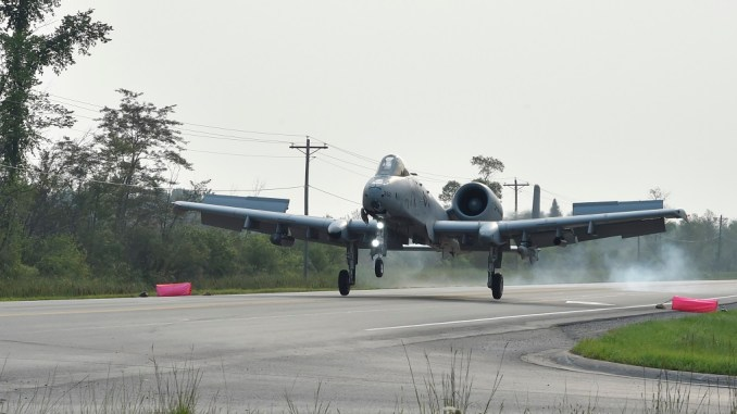 a 10c thunderbolt iis and c 146a wolfhounds conducted first ever highway operations in the us Airplane GEEK A-10C Thunderbolt IIs And C-146A Wolfhounds Conducted First Ever Highway Operations In The US