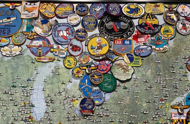 EAA Chapters Map at EAA Air Museum