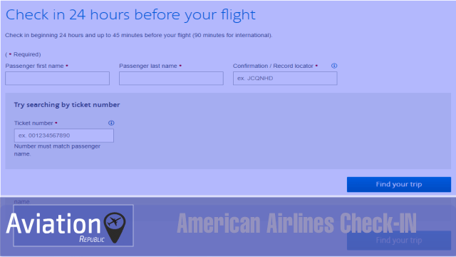 How can I check-in for my American Airlines flight?