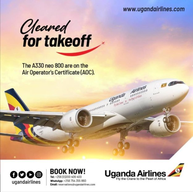 uganda airlines adds its two airbus a330 800s to its certificate 2 Airplane GEEK Uganda Airlines adds its two Airbus A330-800s to its certificate