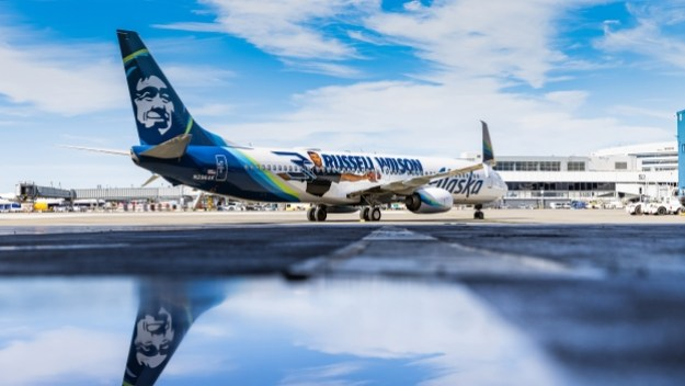 alaska airlines unveils a new 2021 russell wilson logo jet 1 Airplane GEEK Alaska Airlines unveils a new 2021 Russell Wilson logo jet