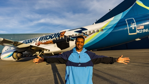 alaska airlines unveils a new 2021 russell wilson logo jet Airplane GEEK Alaska Airlines unveils a new 2021 Russell Wilson logo jet