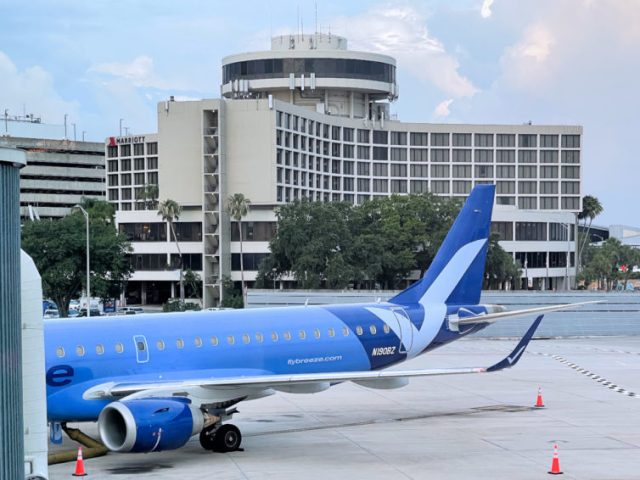 N910BZ, a 7-year old Embraer E-Jet at TPA's gate 44. - Photo: JL Johnson