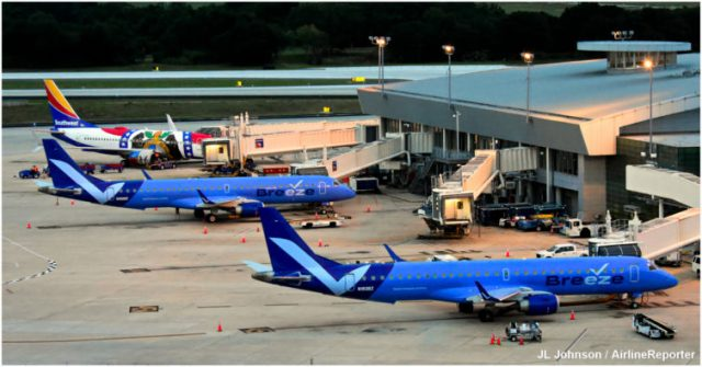 Two Breeze Planes and Southwest's Missouri One at TPA.