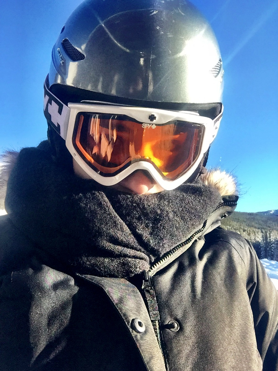 This scarf was a major key while shredding powder at the Lake Louise Ski Resort