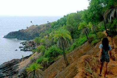 Hiking between beaches