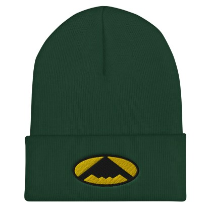 airplaneTees B2 Bomber Cuffed Beanie – In the style of Batman 6