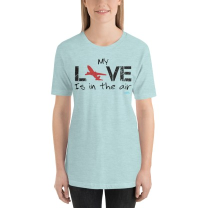 airplaneTees MY Love is in the air tee... Short-Sleeve Unisex 5