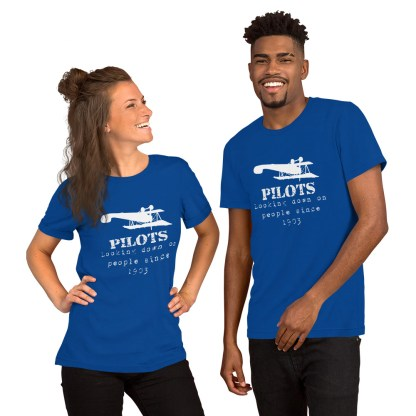 airplaneTees Pilots looking down on people since 1903 tee... Short-Sleeve Unisex 6
